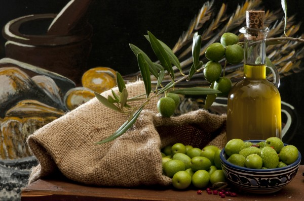 olives and oil